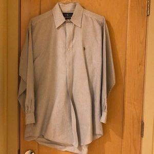 Ralph Lauren blue striped dress shirt
